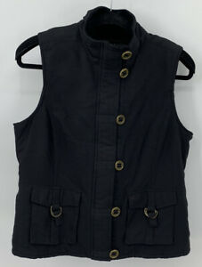 TRIBAL Fleece Lined Vest Medium Utility Button Front