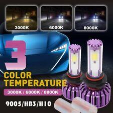 9005 HB3 Canbus Error Free LED Headlight Kit High Beam Bulb 3000K 6000K 8000K