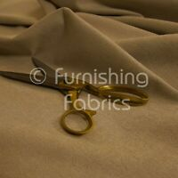 Quality Highland Soft Wool Effect Plain Chenille Curtain Upholstery Beige Fabric