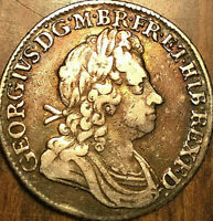 1723 GREAT BRITAIN SILVER SHILLING COIN - Really nice!