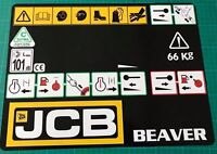 JCB Beaver HYDRAULIC BREAKER FRONT PANNEL  BLACK STICKER DECAL