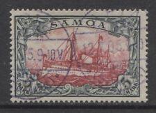 1901 German colonies SAMOA  5 Mark Yacht issue  used,  APIA ,  $ 720.00