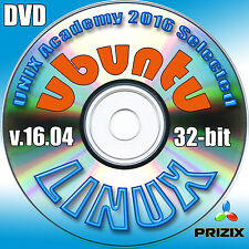 Ubuntu 16.04, 32-bit Complete Installation DVD+Linux Library CD with 52 books