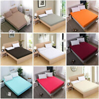 Egyptia Fitted Sheet Bed Sheet Comfort Bedding Cover Deep Pocket Full King Queen