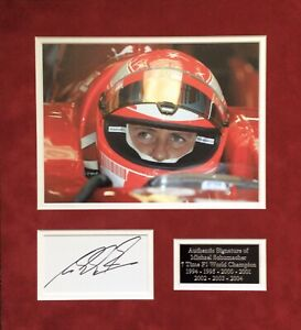 MICHAEL SCHUMACHER AUTHENTIC SIGNED F1 MOUNTED DISPLAY AFTAL#198