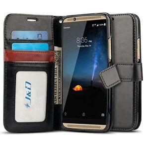 J&D ZTE Axon 7 [Wallet Stand] PU Leather Flip Cover Wallet Case