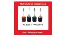 Refill kits for HP 62XL black & HP62XL colour Ink Cartridges Envy 5540,5640,5740