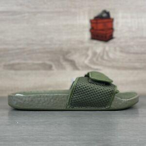 adidas Chancletas x Pharrell Williams Boost Slide UK 8 HU Olive Cargo Green