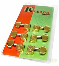 KCD-3801G  KLUSON® CONTEMPORARY DIECAST TUNING MACHINES 3 + 3 Gold