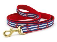 Dog Puppy Design Leash - Up Country - Made In USA - Anchors Aweigh - Choose Size