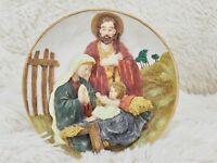 """The San Francisco Music Box Co. """"O HOLY NIGHT"""" Holy Family Nativity Christmas"""