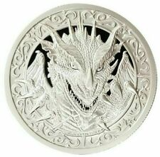 2-OZ - 999 SILVER - DESTINY KNIGHT - THE  DRAGON - MAGNIFICENT DETAIL - $9.99 NR
