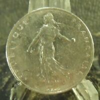 CIRCULATED 1961 1 FRANC FRENCH COIN (101718)1.....FREE DOMESTIC SHIPPING!!!!!