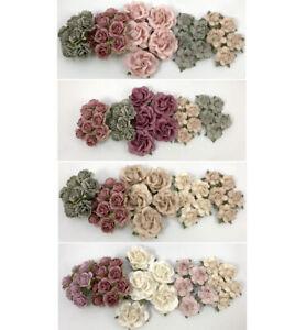 Special Set 35 Paper Flower Kit Packs Scrapbook Card Wedding Craft Supply AP45