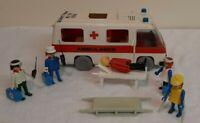 PlayPeople Playmobil 1977 Vintage Ambulance, Figures, Stretchers etc