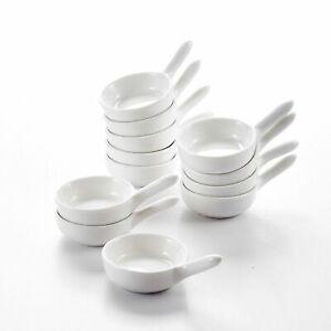 "MALACASA  12pcs 3.75"" Porcelain Dipping Bowls Set Ceramic Serving Ramekin Dishes"