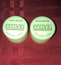 2X Glow Recipe Avocado Melt Retinol Eye Sleeping Mask 5mL/.17oz Each