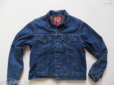 Levi's Damen Jacke Jeansjacke Gr. L, Denim Karo-Stoff gefüttert ! Made in USA !