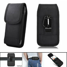 For iPhone 11 Pro XR Samsung Case Vertical Belt Clip Pouch Holster Nylon Holder