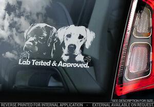 LAB TESTED & APPROVED Car Sticker,  Labrador Dog Window Bumper Decal Pet - V03