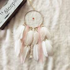 Handmade Feather Dream Catcher Girls Dreamcatcher Gift Room Decorations Pink UK