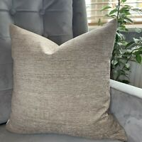 "John Lewis & Partners Edessa Fabric & Cushion Cover 18"" X 18"" Mocha Decor"