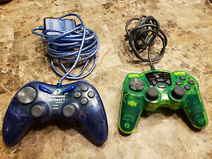 Playstation 1 or PS2 Wired Controller Lot Mad Catz 8026 Performance Dual Impact