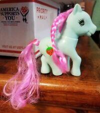Vintage My Little Pony KO Bootleg Blue Pink Hair Strawberry Cutie Mark Figure