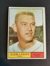 ORIGINAL1961 TOPPS PITTSBURGH PIRATES BASEBALL CARD #22 CLEM LABINE EXCELLENT