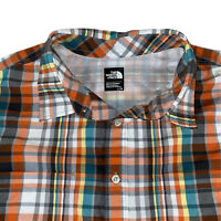 The North Face Mens Button Up Short Sleeve Plaid Shirt - Size Large