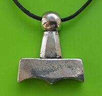Viking Mjölnir Thor's Hammer Pewter Pendant Necklace - Thor God - For Protection