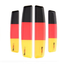 German Flag Car Door Edge Scratch Anti-Collision Protector Guard Strip Trim Set