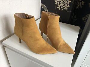 Mustard Heeled Boots