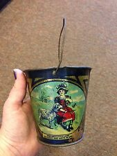VINTAGE TIN LITHO TOY SAND PAIL/BUCKET MARY HAD A LITTLE LAMB
