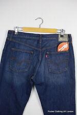 Vintage levis jeans homme silver label w 34 l 32 droit main treated denim P24