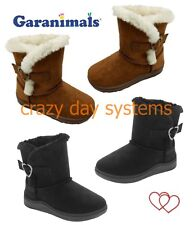 Garanimals Boots Brown Black Faux Suede Lined Faux Shearling Fur 2 Infant - 6T