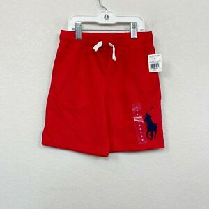 Polo Ralph Lauren Big Pony Red Cotton Pull On Shorts Boys size 6 NEW