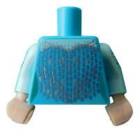 Lego Torso azurblau /medium azure für Minifigur 973pb3517c01 Oberkörper Elsa Neu