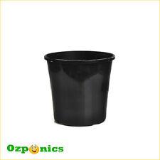30X HYDROPONIC BLACK PLASTIC GARDEN POT PLANT GROWING BUCKET 4L 200MM WITH HOLES