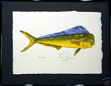 Dorado or Dolphin: Ready for instant shipping: Ken Richards original framed WC