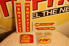 FMF Team Replica old school BMX sticker kit sm2 Race Inc SE Racing DG - 8 decals