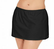 Island Escape BLACK Swimwear Skirt Panty Bottom Plus size 24W NWT NEW