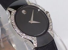 Authentic Womens Movado Allia 0604461 0.45ct.apx.custom set real Diamond watch
