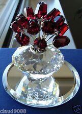 """SWAROVSKI   """"15th BIRTHDAY VASE OF RED ROSES""""  283394 MINT IN MINT BOX"""
