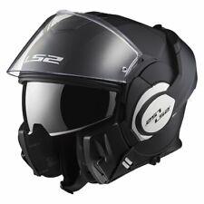 LS2 Valiant  Full-Face Flip up Helmet Dual Visor Matte Black FF399-100 size XL