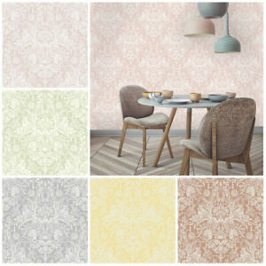 Harlen Woodland Wallpaper - Rustic Pastel Shabby Chic - Holden Decor - Statement