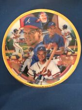SPORTS IMPRESSIONS COLLECTOR PLATE #1141-02 DAVE JUSTICE NIB