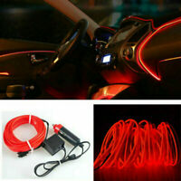 LED Auto Car Interior Decor Atmosphere Wire Strip Light Lamp Kit 12V Universal