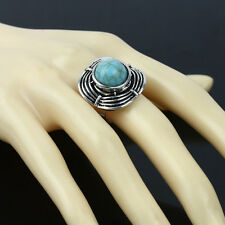 Women Men Wedding Gift Size 7 Green Turquoise Rings Party 1pc Jewelry Adjustable