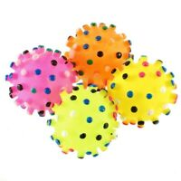 Rubber Squeaky Sound Bite Dogs Fun Puppy Toys Colorful Pet Dog Ball Toy